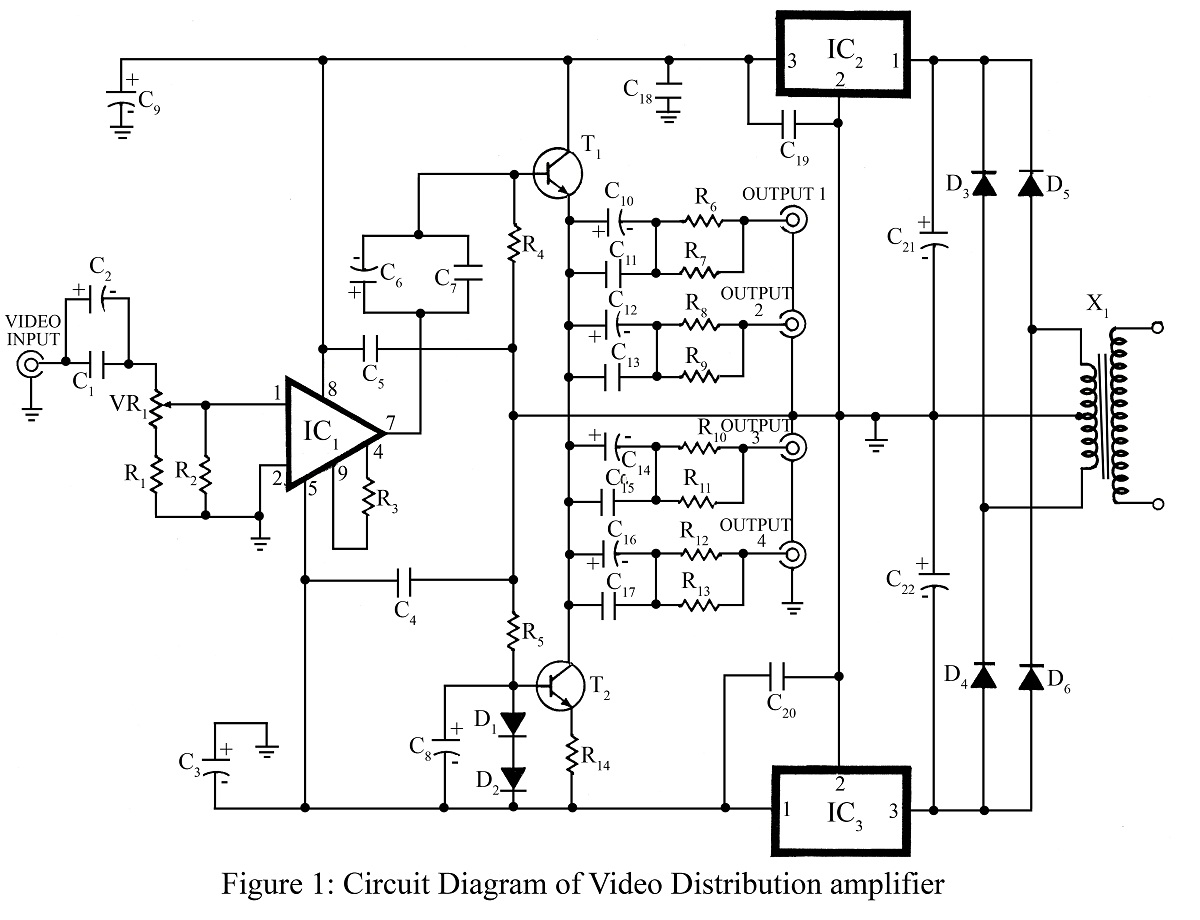 Video Distribution Amplifier Best Engineering Projects Sound Detector Using Lm324