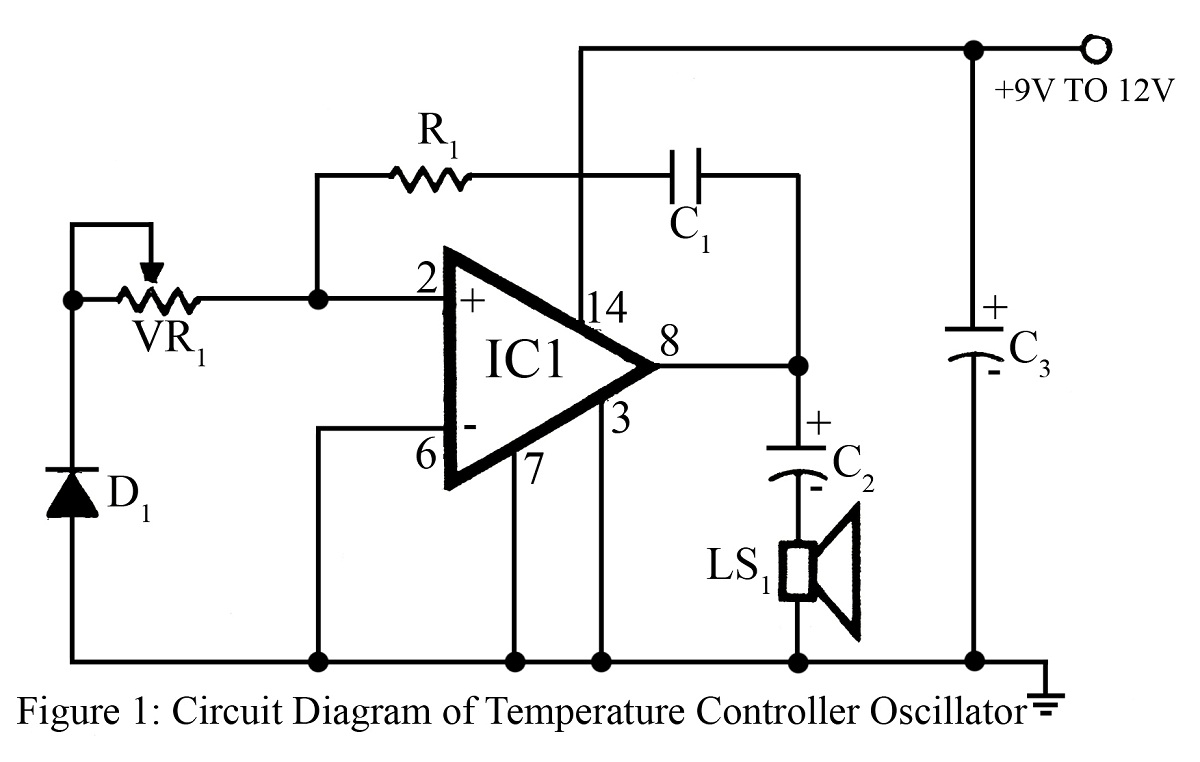 temperature controlled oscillator circuit