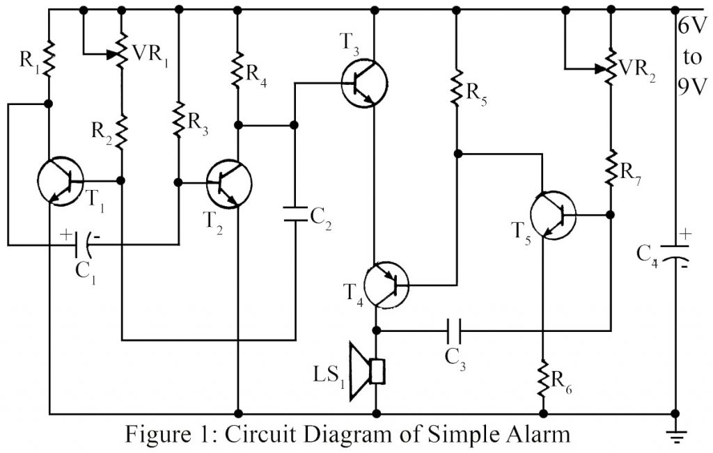 simple warning alarm best engineering projects rh bestengineeringprojects com Parts of a Simple Circuit Simple Open Circuit
