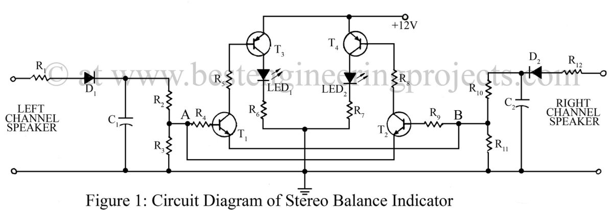 Excellent Speaker Balance Indicator Circuit Standard Electrical Wiring Diagram Wiring Cloud Oideiuggs Outletorg