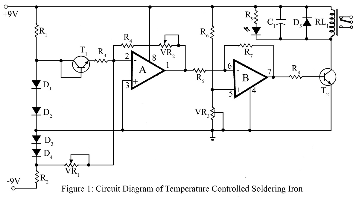 Switching And Controlling Circuit Electronic Projects Clap Switch Diagram Using Ic 555 14 Temperature Controlled Soldering Iron Station