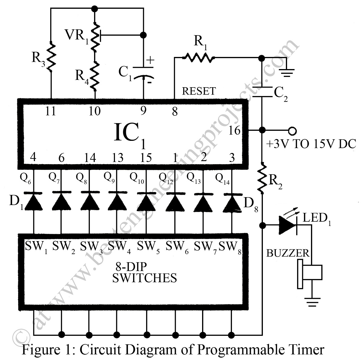 Light Operated Repeating Timer Circuit