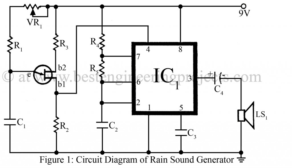 Rain Sound Generator Circuit Best Engineering Projects