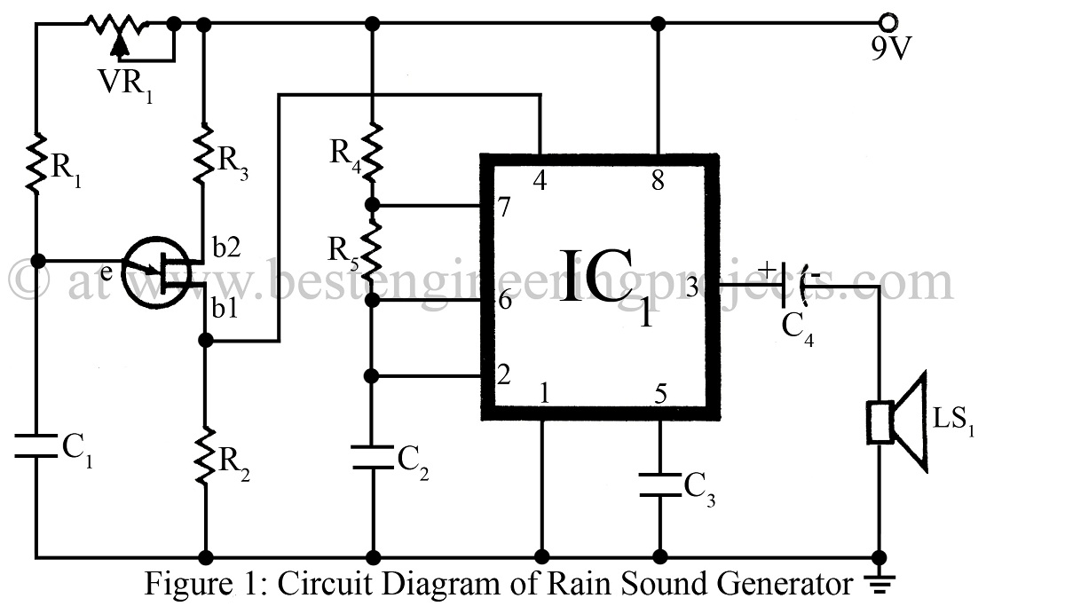 rain sound generator circuit engineering projects