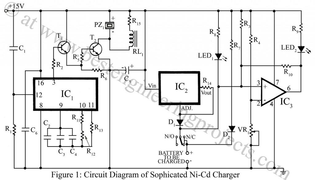 Ni-Cd Battery Charger Circuit - Engineering Projects on ion battery charger, battery pack charger, oem battery charger, 1300mah battery charger, nickel battery charger, 24v battery charger, a123 battery charger, dewalt battery charger, nimh battery charger, rechargeable battery charger, ac battery charger, lead battery charger, 14.4v battery charger, standard battery charger, 3000mah battery charger, 4.8v battery charger, electric battery charger, nicad battery charger, panasonic battery charger, 14.4 volt battery charger,
