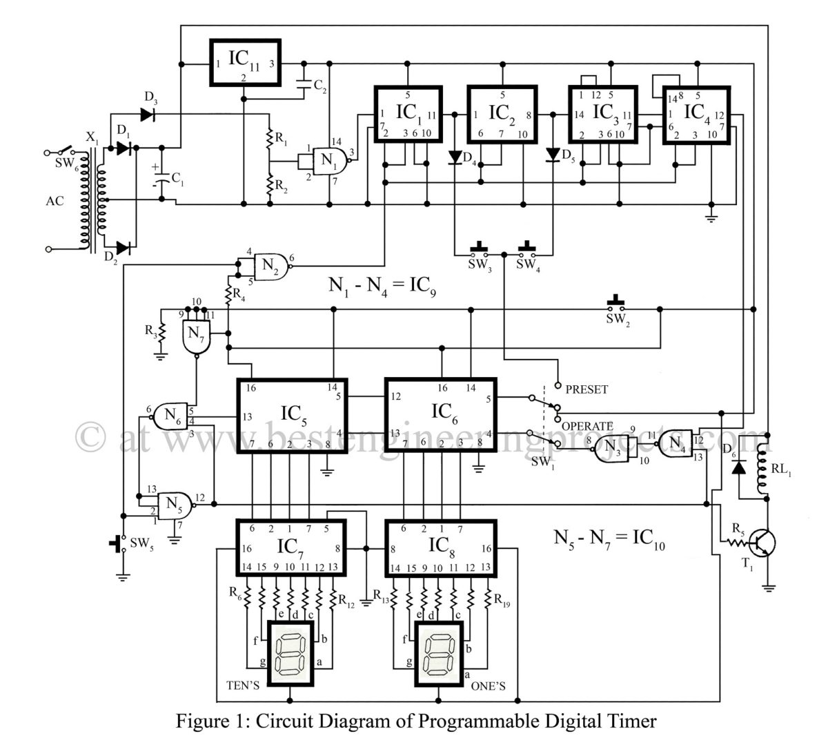 digital programmable timer switch schematic