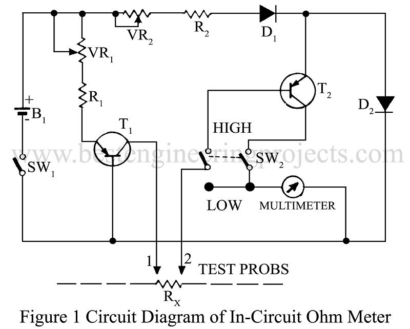 In Circuit Ohm Meter Ohm Meter For Electronics Circuit