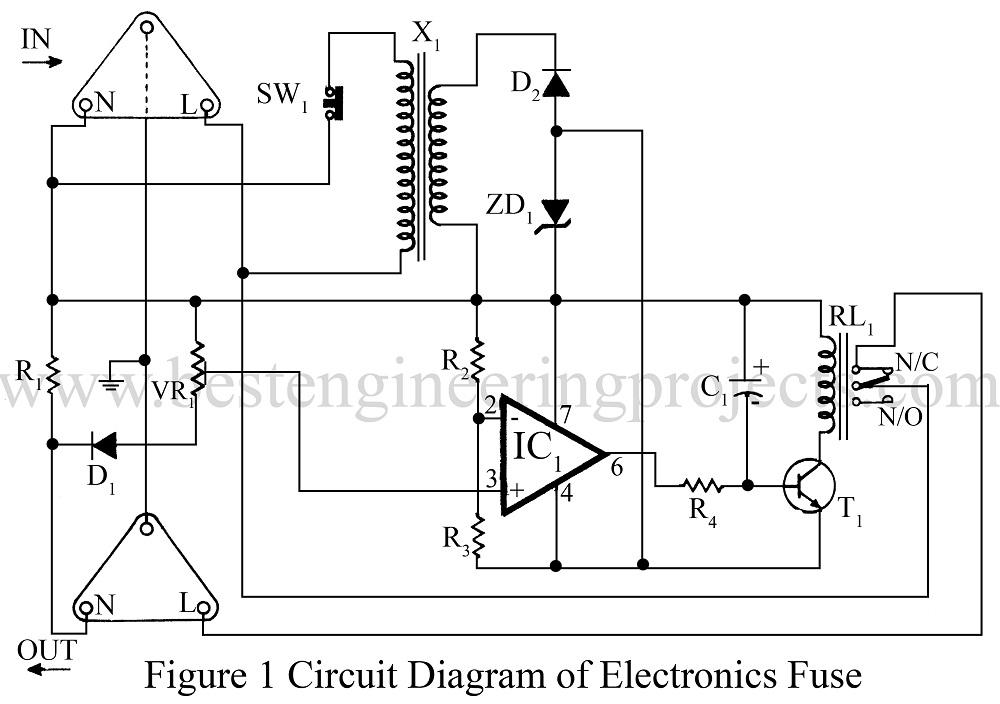 electronics fuse circuit electronic circuit breaker engineering 2001 F150 Fuse Diagram circuit diagram of electronics fuse