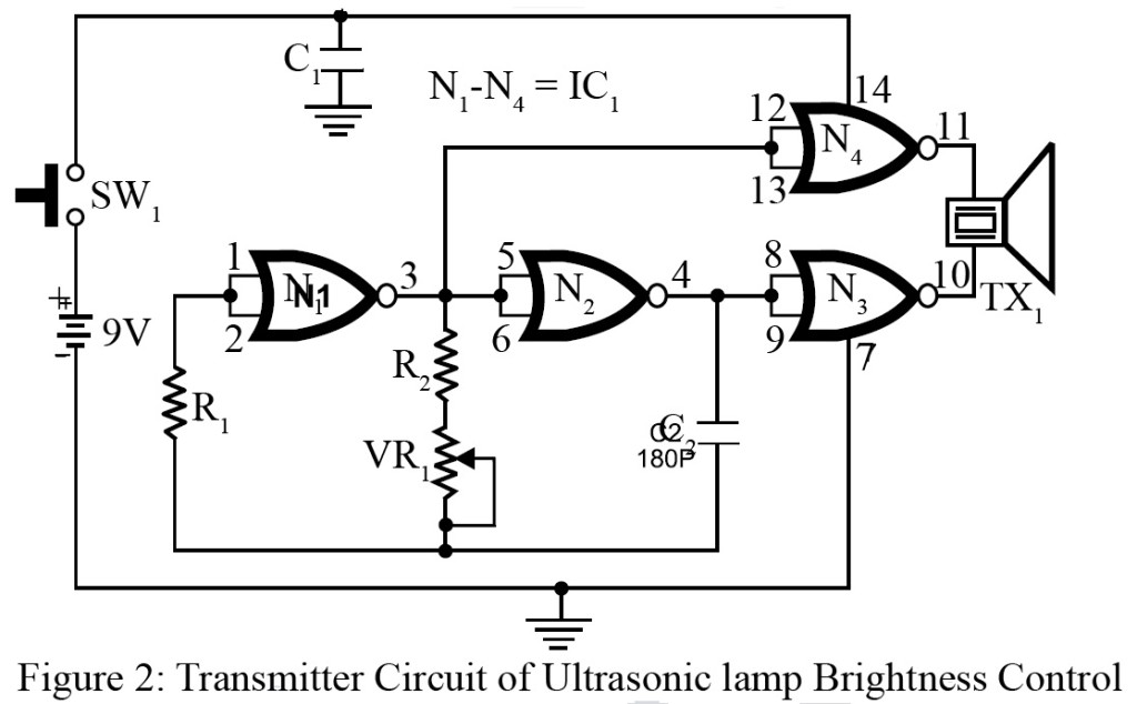 Ultrasonic Lamp Brightness Controller Circuit - Engineering Projects