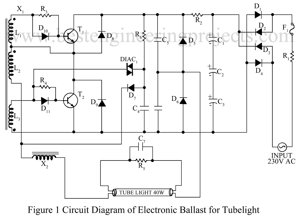 Circuit Diagram Electronic Ballast Tube Light 20 16 Danishfashion
