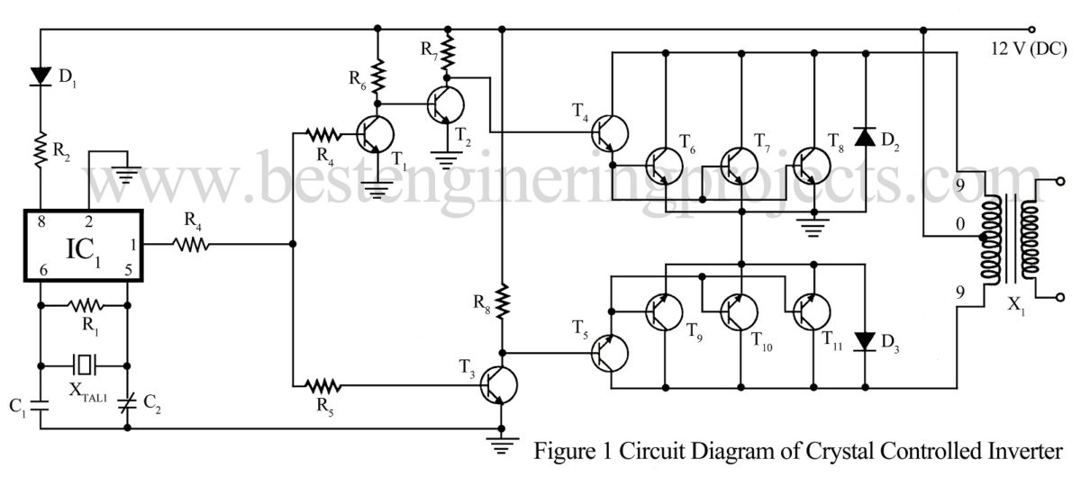 Power Supply Circuit Electronics Projects Ckt Diagram Of Inverter Crystal Controlled