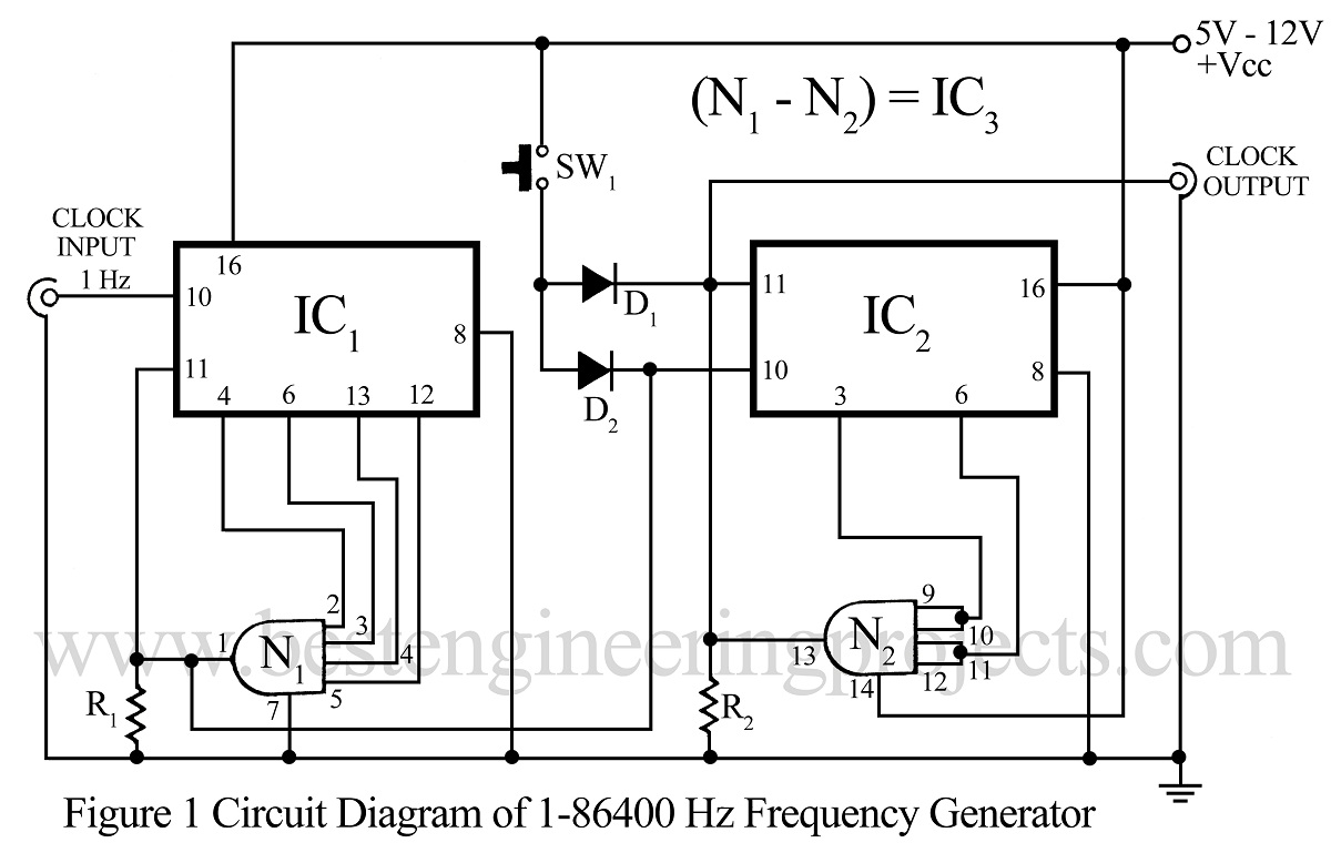 1  86400 Hz Frequency Ganerator Circuit