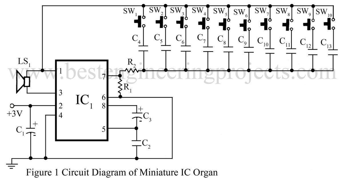 Alarm Circuit Door Bell Electronic Siren Diagram 9