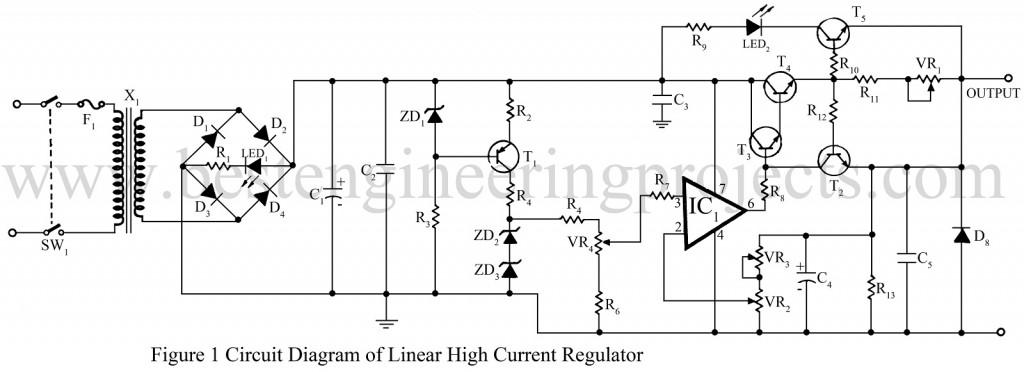 high current regulator circuit best engineering projects rh bestengineeringprojects com