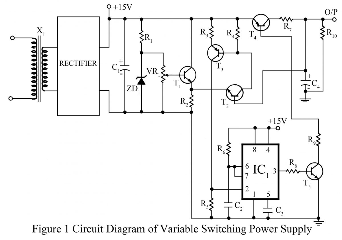 Variable Switching Power Supply Based Projects Emitter Audio Preamp Schematic Using 1 Npn Transistor Circuit Drawing