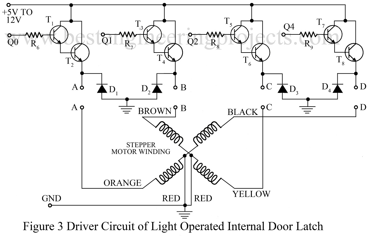 Light Operated Internal Door Latch Digital Electronics Projects Circuit Of 555 Timer Ic Driver