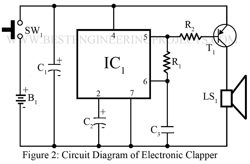 sound operated on off switch engineering projectscircuit diagram of electronic clapper