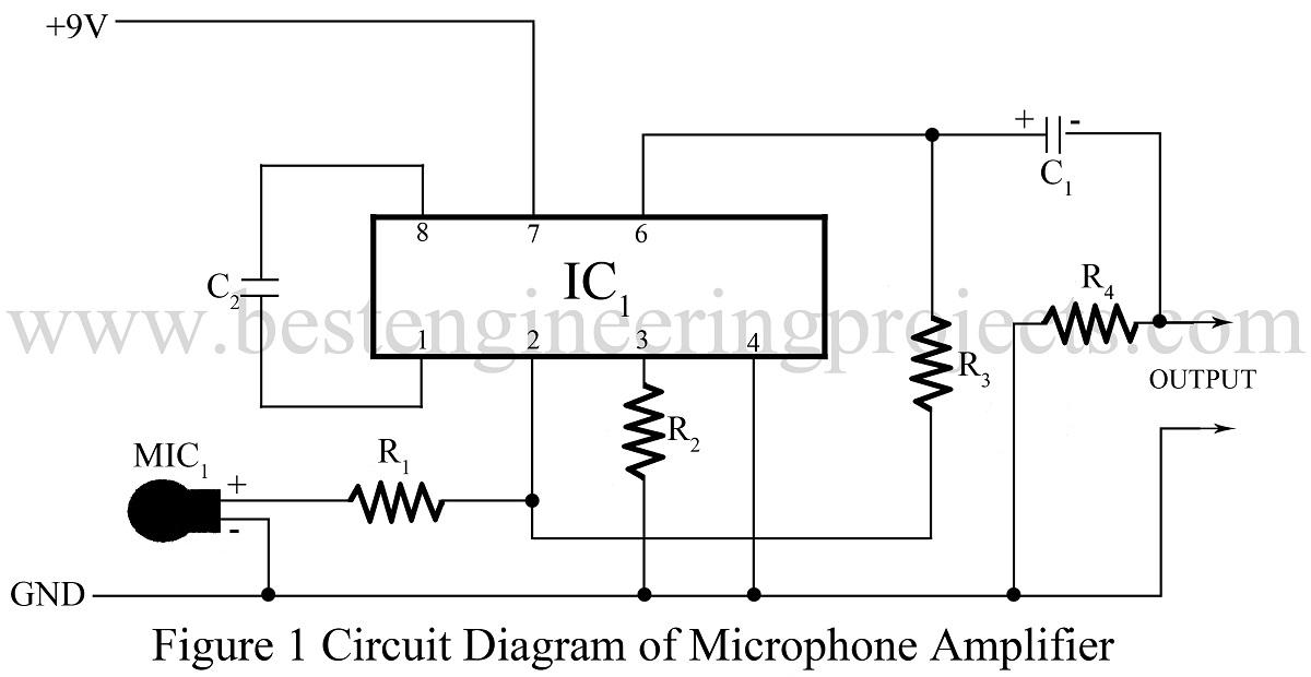 microphone amplifier using op