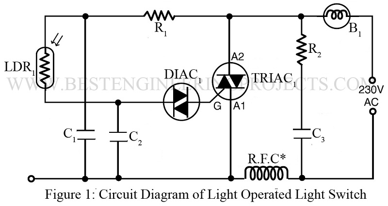 Light Operated lamp switch using DIAC and TRIAC - Best Engineering ...