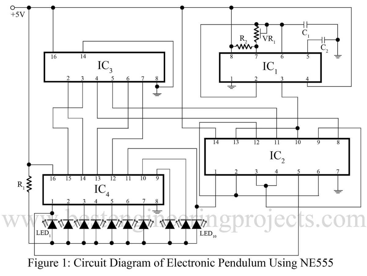50 Top 555 Timer Ic Projects Engineering Automatic Changeover Switch Circuit Using Electronic Pendulum Ne555