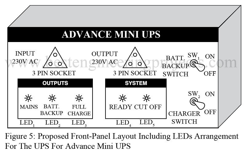 advance mini ups circuit best engineering projects rh bestengineeringprojects com Rectifier Circuit Diagram UPS Network Diagram