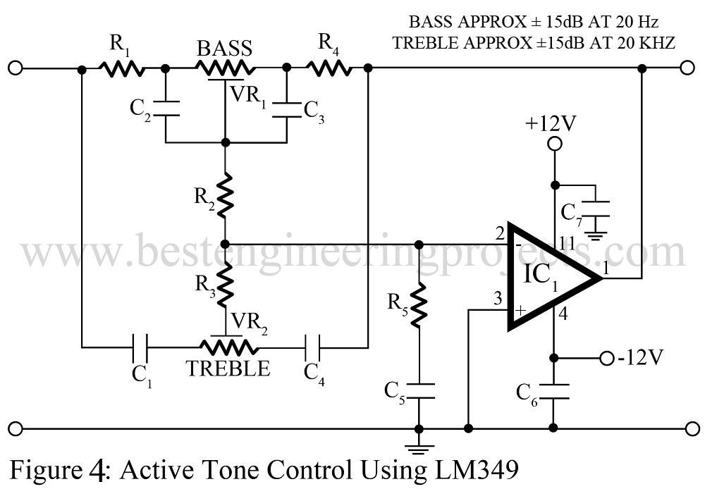 Tone Control Circuit (Active and passive) - Engineering Projects