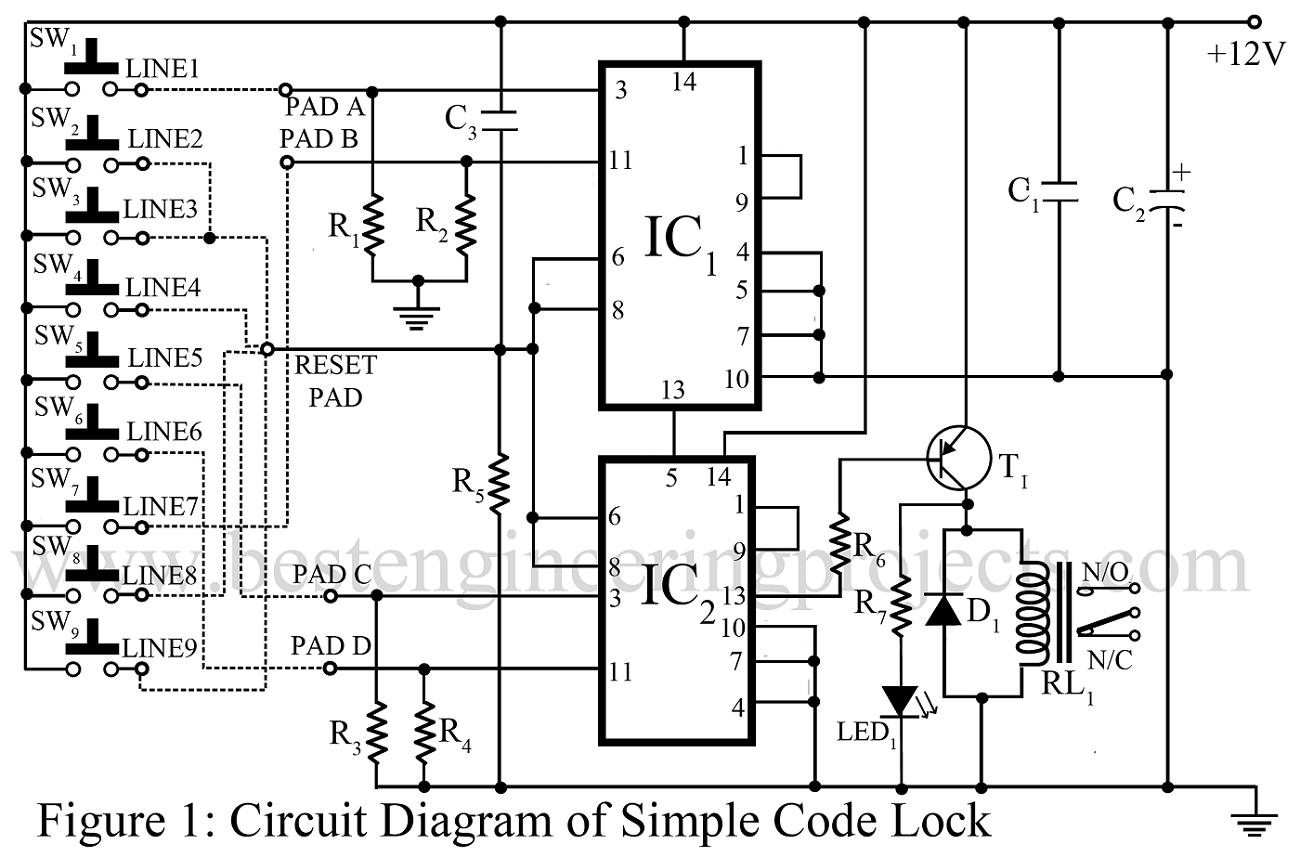 Spdt Relay Wiring Diagram Lock Electronic Code Circuit Best Engineering Projects