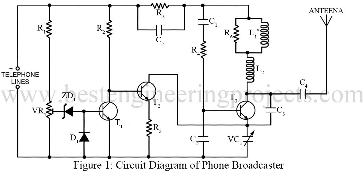phone broadcaster circuit