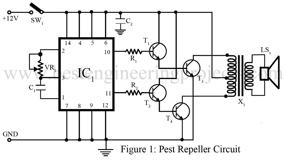 pest repeller circuit best engineering projects rh bestengineeringprojects com