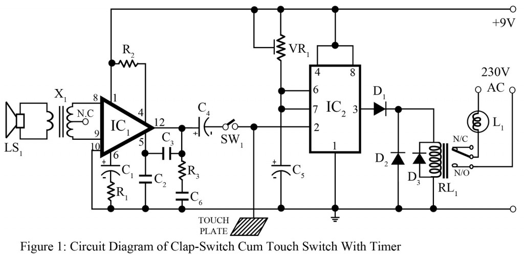 clap switch cum touch switch