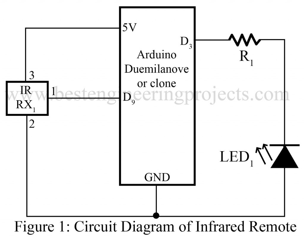 Infrared Remote Controller Using Arduino Best Engineering Projects Circuit Diagram Of Control Tester