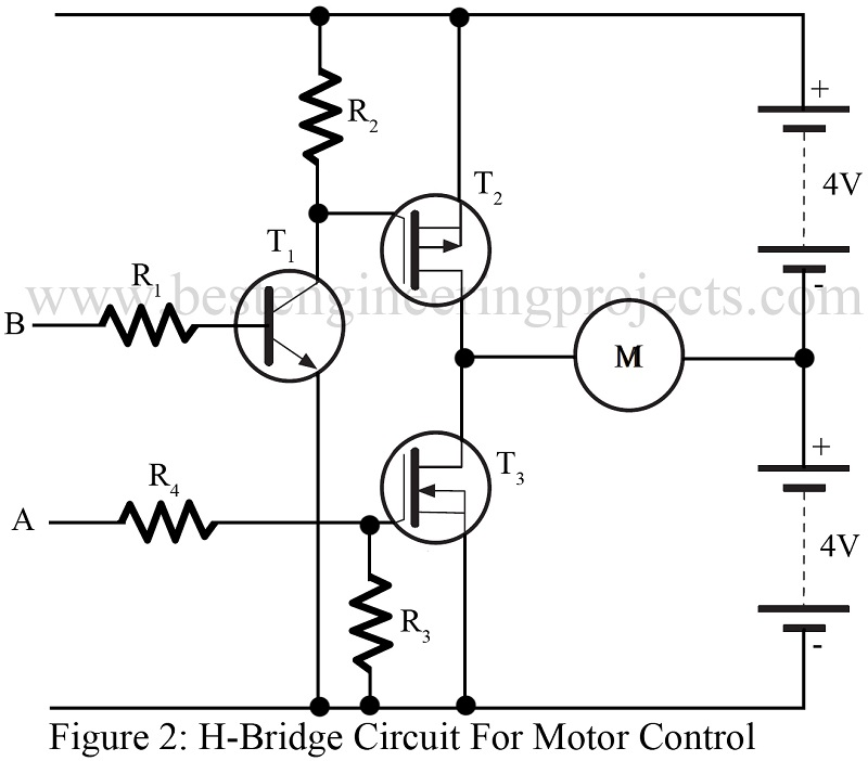 h bridge circuit for motor control