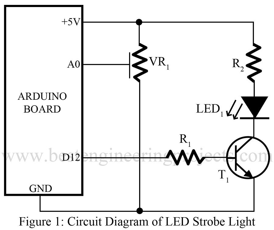 strobe light using arduino best engineering projects rh bestengineeringprojects com Arduino Board Arduino Uno