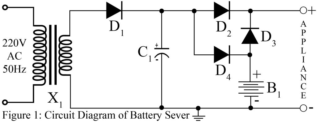 battery saver circuit best engineering projects rh bestengineeringprojects com 12 Volts Battery Charger 30 Amp Design Circuit Simple Battery Charger Circuit