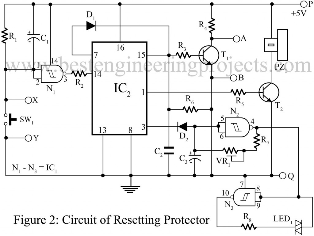 diy resetting protector circuit for computer