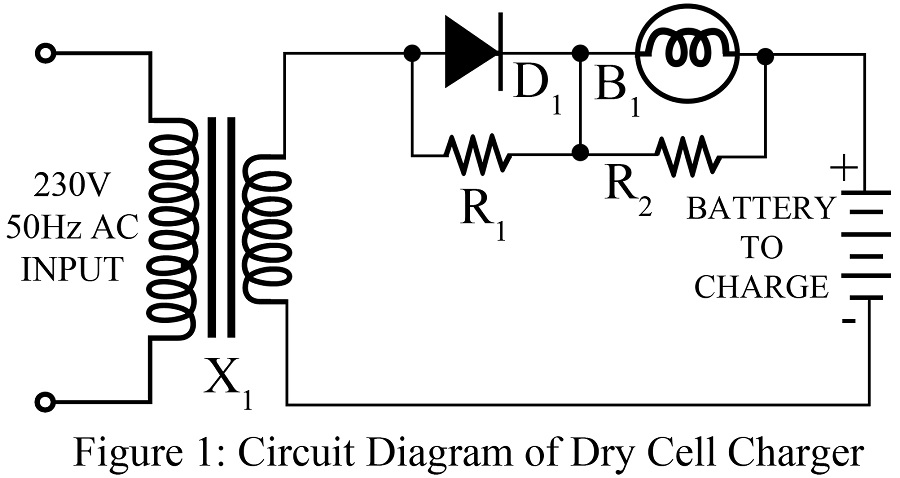 Dry Cell Charger Circuit | Easy Electronic Projects