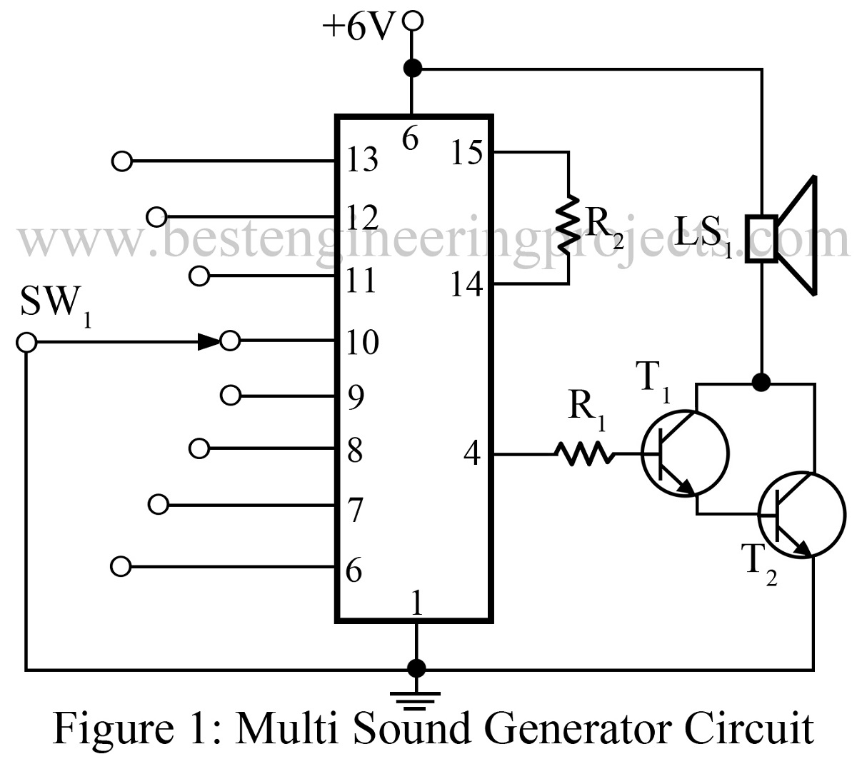 Sound Generator Schematic Diagrams Um3561 Siren Design Multi Circuit Best Engineering Projects Diagram Creator