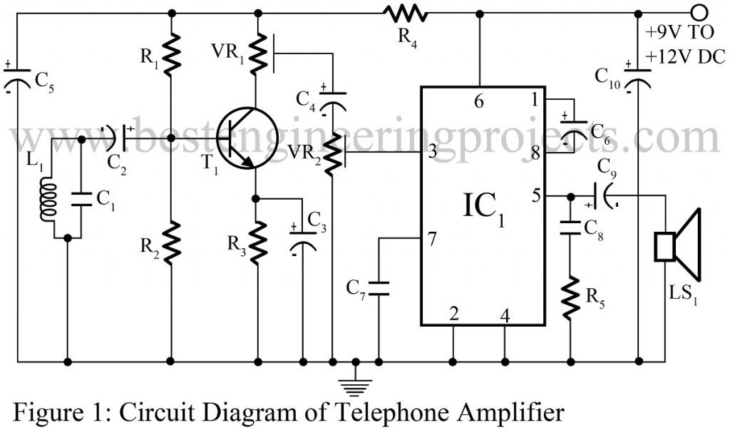 Pleasant Telephone Amplifier Circuit Engineering Projects Wiring Database Gramgelartorg