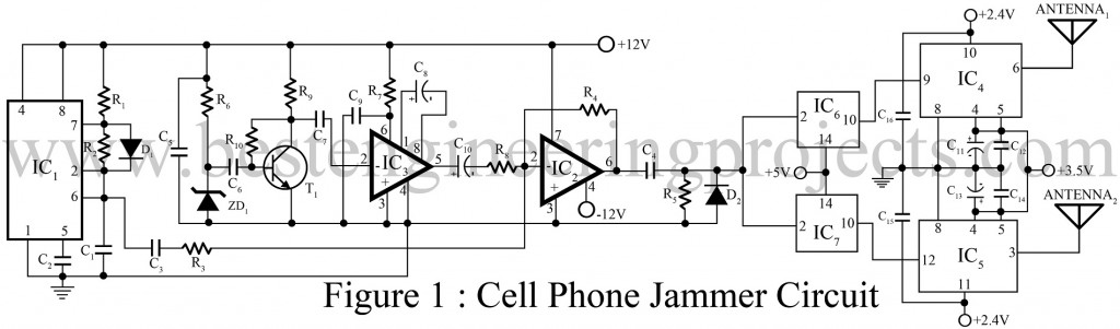 Cell Phone Jammer Circuit - Engineering Projects