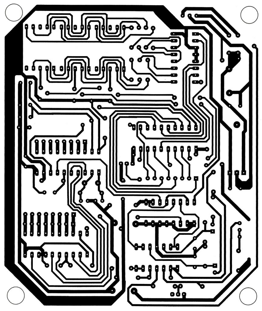Call Indicator Using Mc68hc705j1a Microcontroller Best Engineering Temperaturecompensated Diode Input Power Detector Circuit 555 Solder Side Pcb Design Of