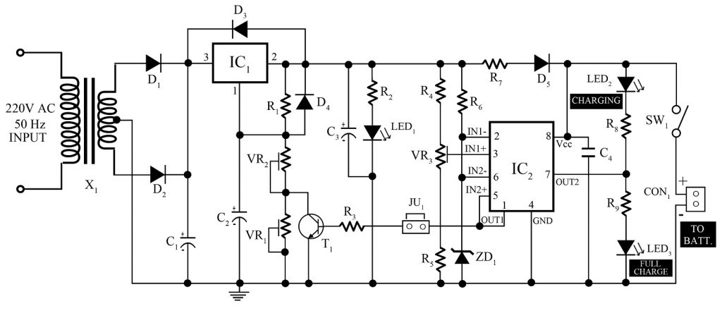12v, 7Ah Smart Battery Charger with PCB Diagram - Best Engineering ...
