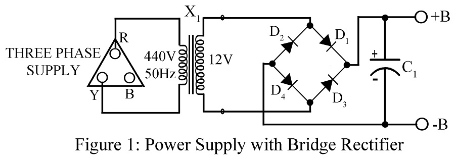 threephase bridge rectifier single phasing preventer circuit