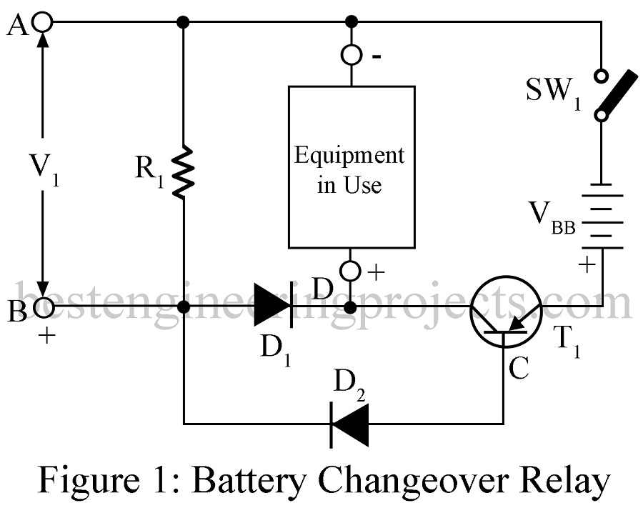Pleasant Simple Battery Changeover Relay Engineering Projects Wiring 101 Capemaxxcnl