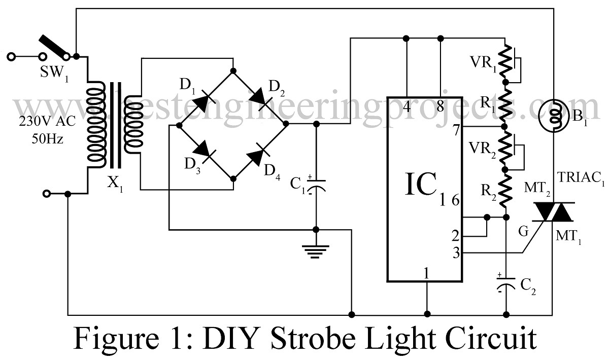 diy led strobe light