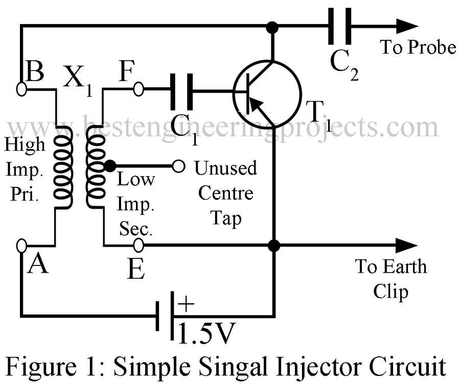 simple signal injector circuit best engineering projects rh bestengineeringprojects com simple signal injector circuit Signal Injector Probe