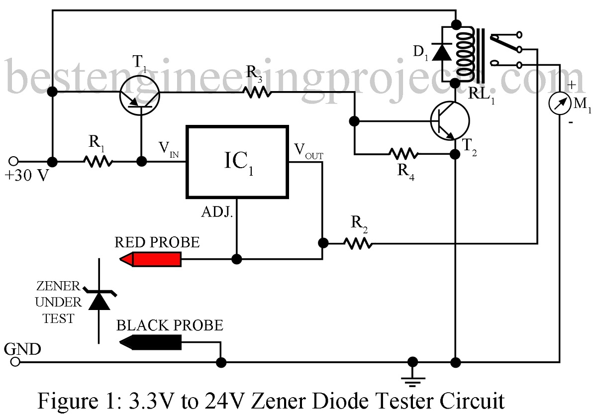zener diode tester circuit best engineering projects rh bestengineeringprojects com