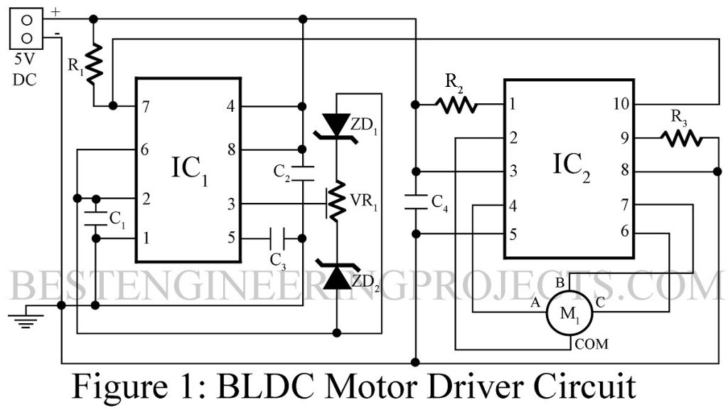 dc motor controller schematic diagram bldc motor driver circuit engineering projects  bldc motor driver circuit engineering