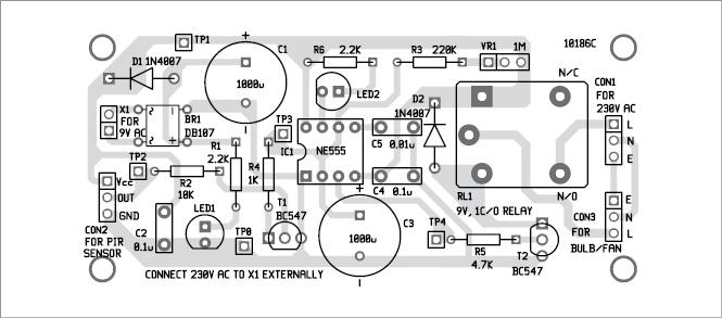 Power Saver Circuit Diagram Using Pir