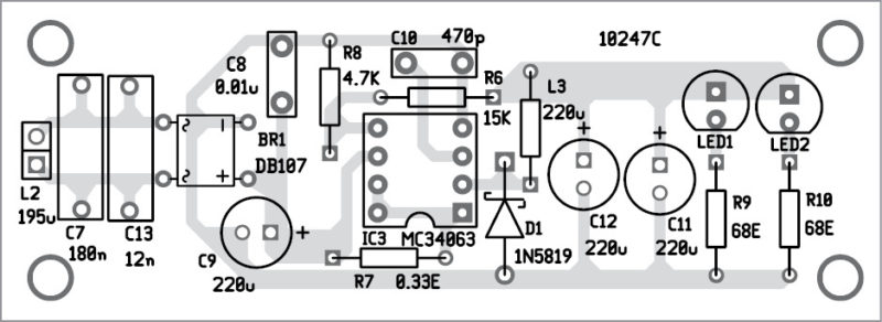 Wireless mobile charger circuit diagram best engineering projects figure 5 solder side pcb of mobile charger circuit diagram receiver ccuart