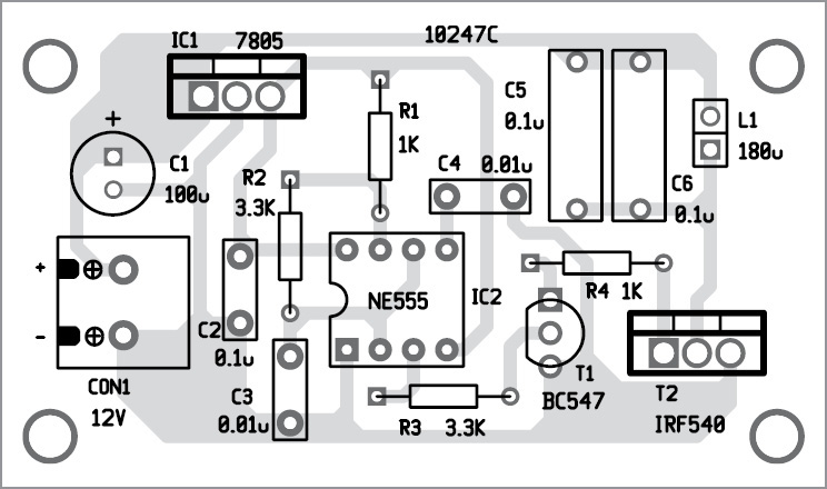 Wireless mobile charger circuit diagram best engineering projects figure 3 solder side pcb of wireless mobile charger circuit diagram transmitter ccuart
